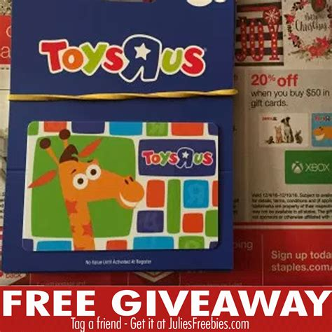 Toysrus Gift Cards - win a 300 00 toys r us gift card julie s freebies