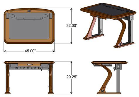 computer desk dimensions artistic computer desk 1 caretta workspace