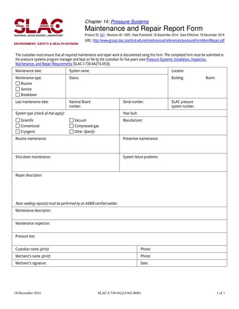 Vehicle Repair Report Template 14 Service Report Forms Free Pdf Format