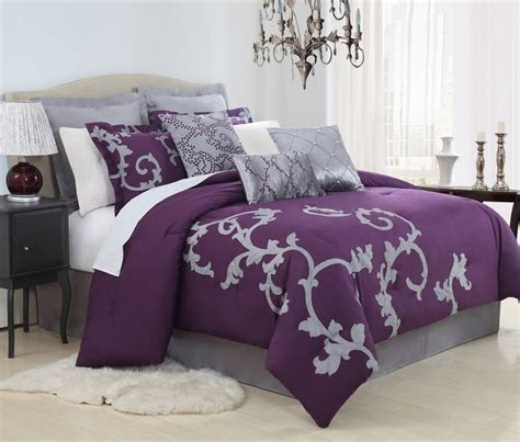 Purple Bedroom Set by Best 25 Purple Comforter Ideas On Plum