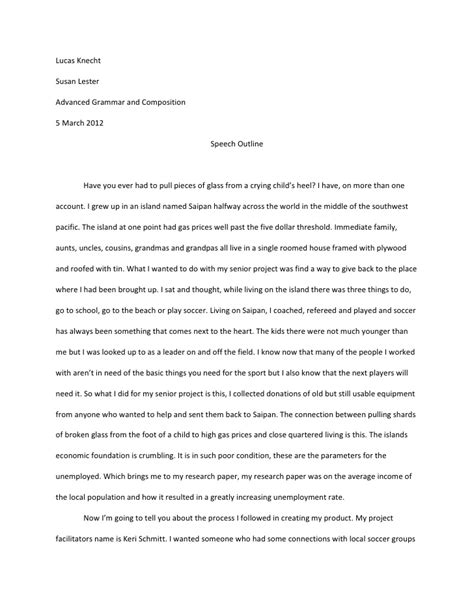 Speech Essays lucas speech essay