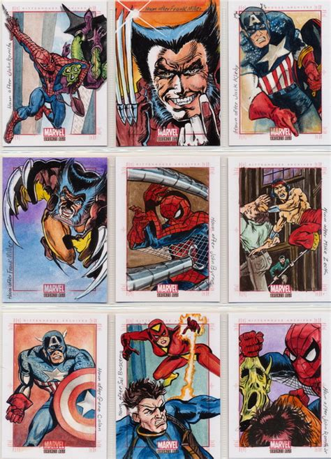 illustrator template artist sketch cards marvel bronze age sketch cards by johnhaunle on deviantart