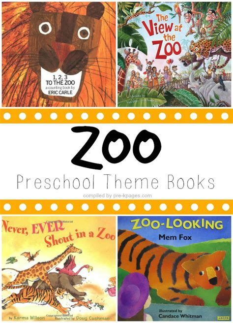 book themes for kindergarten preschool books about the zoo
