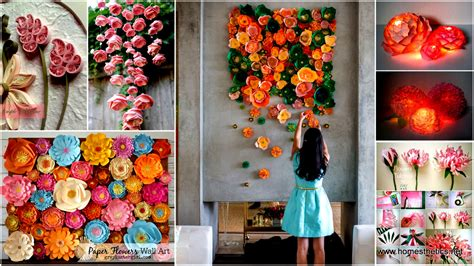 wallpaper craft projects mesmerizing diy handmade paper flower art projects to