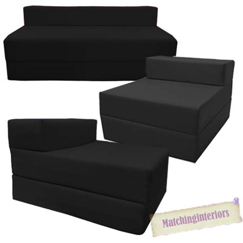 Fold Out Sofa Bed by Black Fold Out Guest Sofa Z Bed Sleeping Mattress Studio