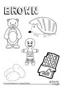 brown coloring pages brown activities for