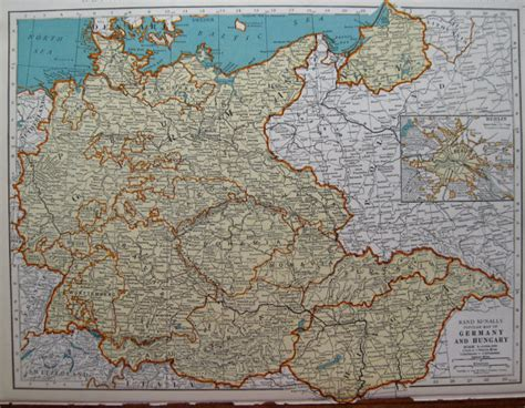 germany 1930 map antique germany and hungary map 1939 vintage 1930s map