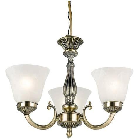 endon 96833 ab 3 light antique brass pendant