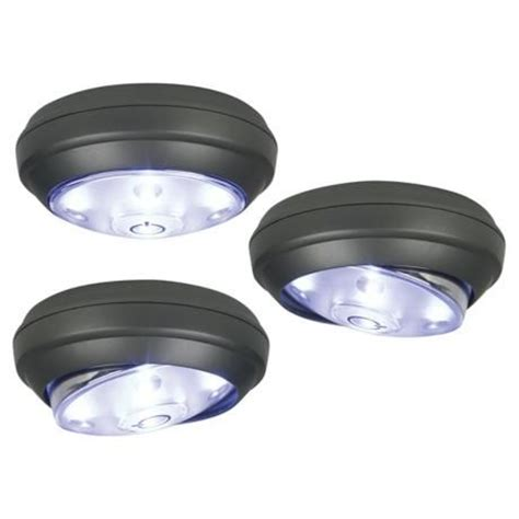 battery operated led puck lights rite lite 3 pack battery powered led puck lights