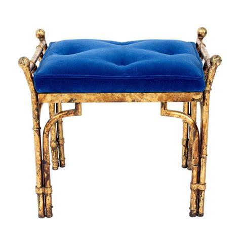 blue velvet bench blue velvet bench for sale at 1stdibs