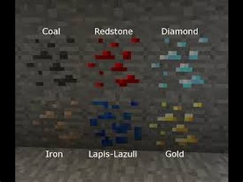 How To Find In Minecraft Minecraft Pocket Edition How To Find Coal Iron Gold Redstone Lapis Lazuli And