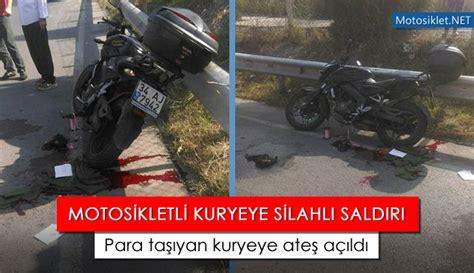 istanbulda motosikletli kuryeye silahli saldiri