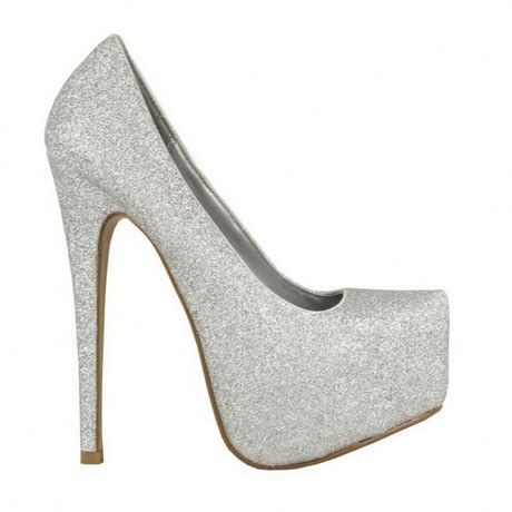 silver sparkly high heels silver glitter high heels