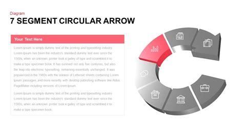 powerpoint circular arrow template 7 segment circular arrow powerpoint template slidebazaar