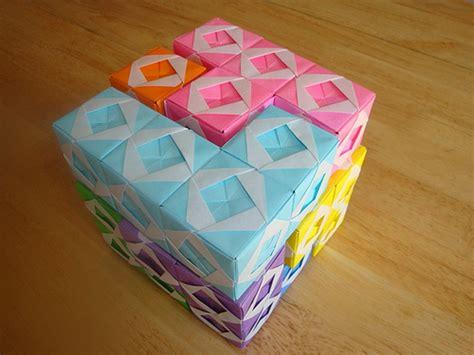 Soma Cube Origami - origami sonobe soma cube 2 modular origami origami