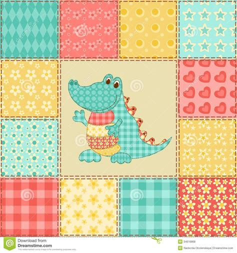 Patchwork Designs And Patterns - crocodile patchwork pattern royalty free stock photos