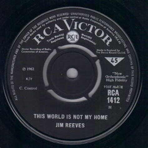 jim reeves this world is not my home rca victor 7 quot single