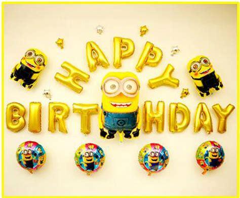 26pcs lot minions balloon happy birthday gold letter foil mylar balloons me2 balloon minion
