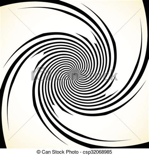 rotate pattern sketch vector of abstract spiral graphic with spinning rotating