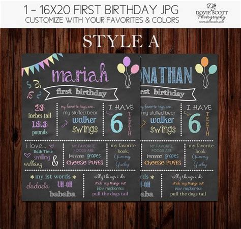 1000 ideas about first birthday chalkboard on pinterest