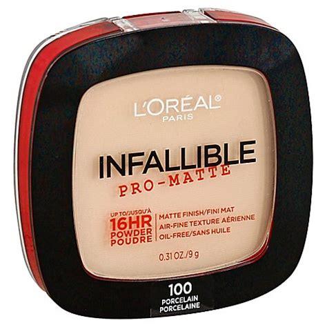 Loreal Infallible Pro Matte Powder 9gr l or 233 al 174 infallible pro matte powder in porcelain www bedbathandbeyond