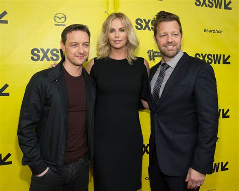 james mcavoy director charlize theron and james mcavoy at sxsw for atomic blonde