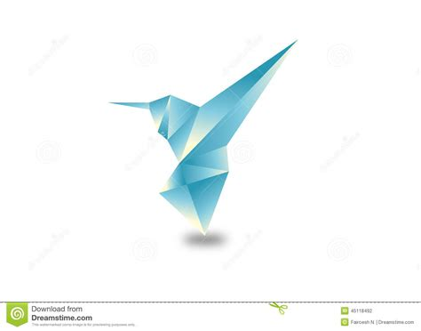 Origami Bird That Flies - origami bird stock photo image 45118492