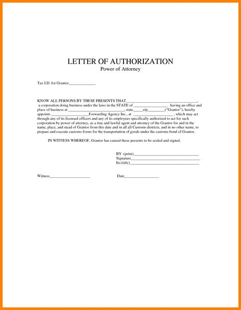authorization letter sle collection authorization letter sle power of attorney 28 images