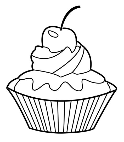 coloring pages of cakes and cupcakes cupcake coloring pages bestofcoloring com