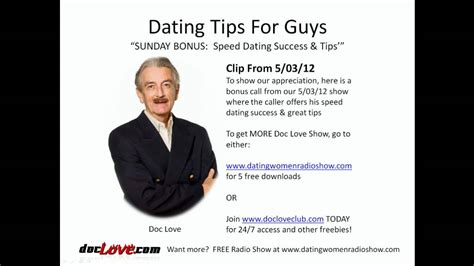 8 Tips On Speed Dating by Dating Tips For Guys Sunday Bonus Speed Dating Success