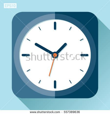clock layout vector clock icon flat style timer on stock vector 592846181