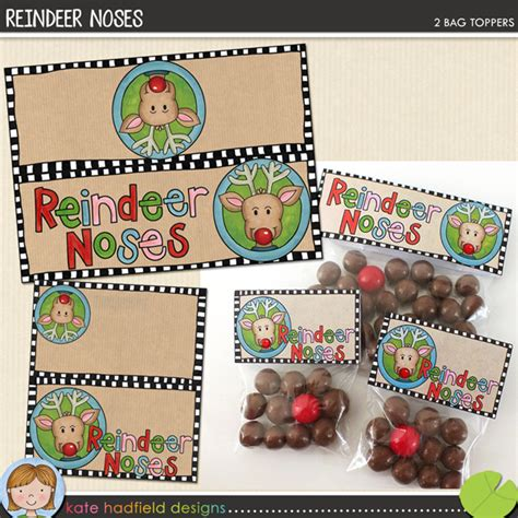 printable reindeer noses labels reindeer noses printable christmas bag toppers