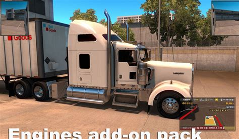 mod game engine engine add on pack v 1 0 mod american truck simulator