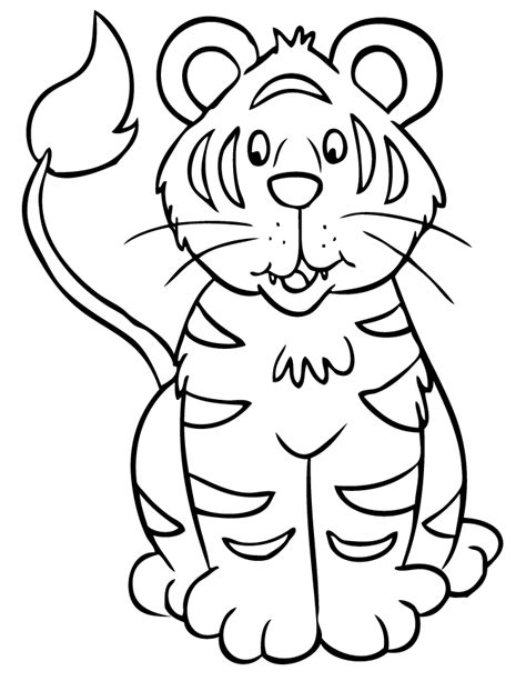 cute coloring pages of tigers cute tiger sitting coloring page h m coloring pages