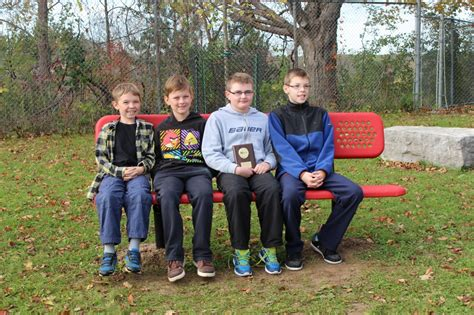 the buddy bench buddy benches bring friendship to pioneer park ps waterloo region district school board