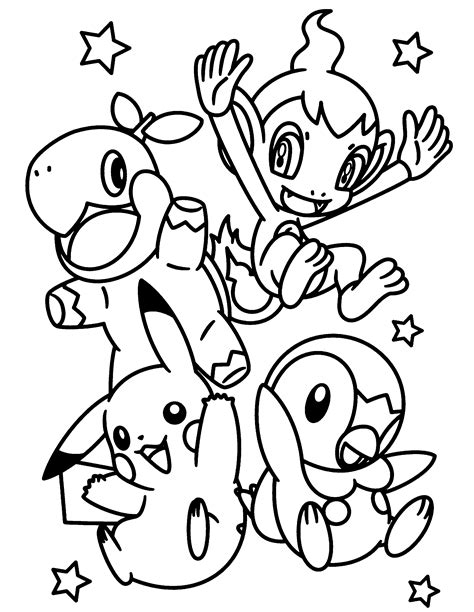 Coloring Page Pokemon Diamond Pearl Coloring Pages 245 Piplup Coloring Pages