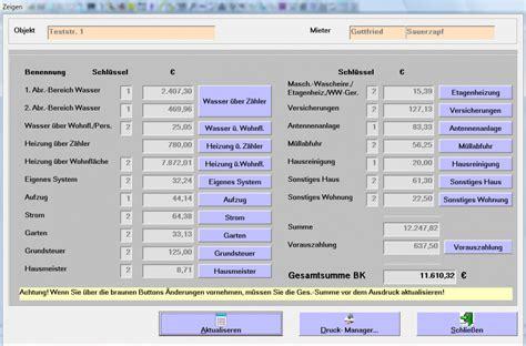 Nebenkostenrechner Wohnung by Nebenkosten Tools Zum Sparen Freeware De