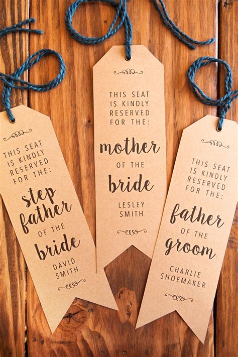 Make Your Own Wedding Ceremony Chair Quot Reserved Quot Signs Diy Wedding Signs Templates