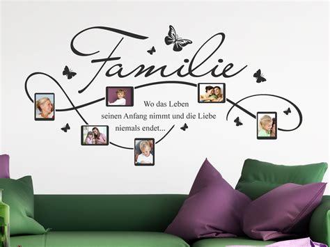 Wandgestaltung Mit Familienfotos by Wandtattoo Rahmen F 252 R Familien Fotos Mit Familienspruch