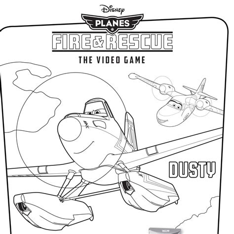 free coloring pages of dusty