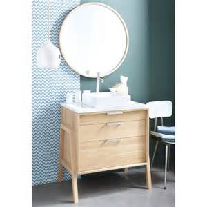 meuble 1 ou 2 vasque s en ch 234 ne massif style scandinave