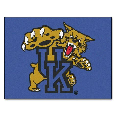 of kentucky rug fanmats ncaa of kentucky blue 2 ft 10 in x 3 ft 9 in rectangle indoor all