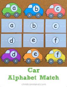 car alphabet match