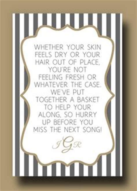 wedding bathroom basket poem wedding poems on pinterest