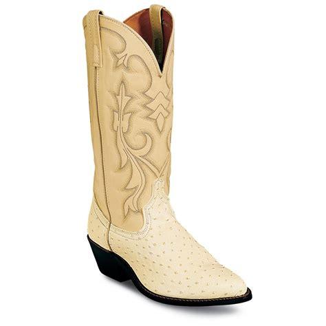laredo boots s s laredo 174 13 quot ostrich print boots white 99426
