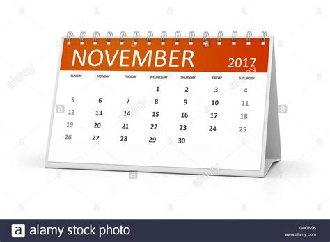 Table Calendar Table Calendar 2017 Stock Photo Royalty Free Image
