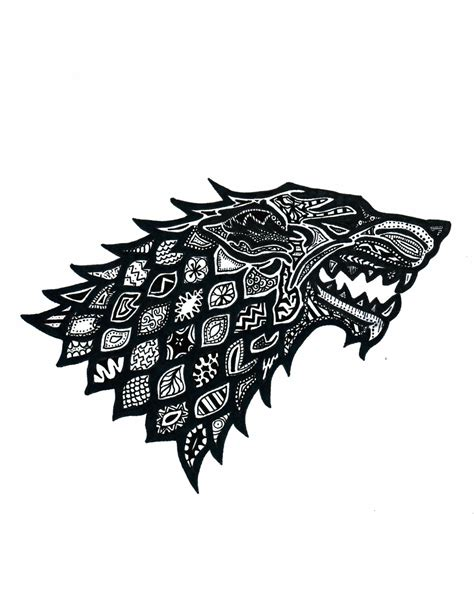 game of thrones house sigils asoiaf house stark house