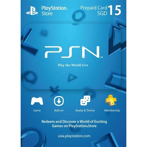 Playstation Game Gift Card - psn card 15 sgd playstation network singapore digital