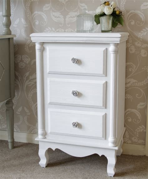 The Bed Table With Drawer by White Bedside Table 187 Inoutinterior