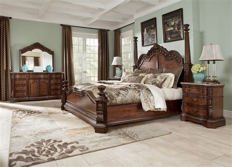 ashley furniture bed sets ledelle poster bedroom set b705 51 71 98 millennium